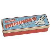 dominoset Dubbel 6 junior aluminium 29-delig