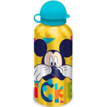 schoolbeker Mickey 500 ml aluminium geel