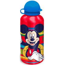schoolbeker Mickey 500 ml aluminium rood