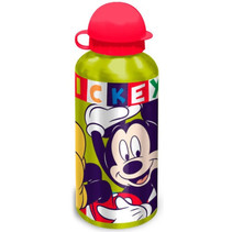schoolbeker Mickey 500 ml aluminium groen