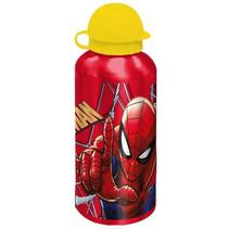 schoolbeker Spider-Man 500 ml aluminium rood