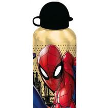 schoolbeker Spider-Man 500 ml aluminium grijs