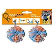 Ogo-ballen 2 stuks oranje/blauw
