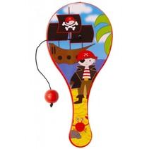 batje met bal piraten 12 cm rood
