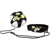 voetbalvaardigheidstrainer zwart/geel/wit