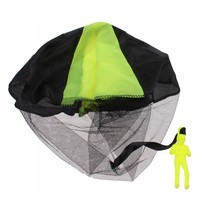 parachutespringer 9 cm geel