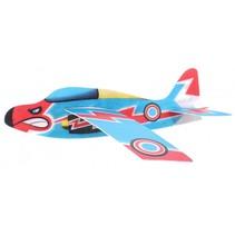 werpvliegtuig Air Hawk 44 cm foam 3-delig blauw