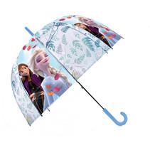 kinderparaplu Frozen 2 PVC 45 cm blauw/wit