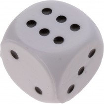 foam dobbelsteen 4 cm wit