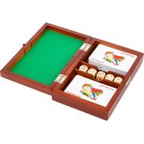 speldoos Cards and Dice unisex 19 cm bruin 8-delig