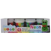 Klei Set Neon 4-delig 55 gram