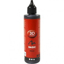 3D liner 100 ml zwart