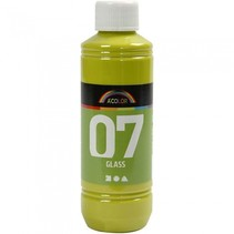 transparante glasverf 250 ml lime