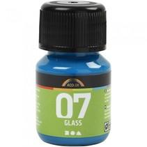 transparante glasverf 30 ml turquoise