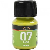 transparante glasverf 30 ml lime