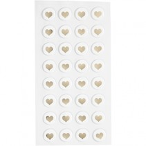 stickers hartjes goud 14 x 2 mm 32 stuks
