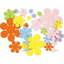 foamstickers bloemen 100 stuks