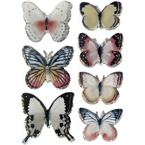 3D stickers vlinders assorti 8 stuks