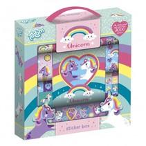 stickerbox Unicorn 21,5 cm meisjes 2000 stuks