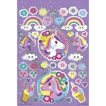 stickerset Unicorn Booklet 14 x 21 cm 4 vellen