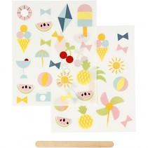 rub-on stickers zomer 12 x 15,5 cm