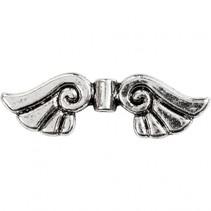 vleugeltjes 3,5 cm 6 stuks zilver