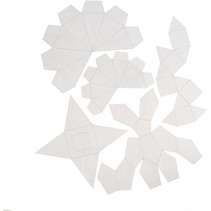 gietvormen geometrisch set 5-delig transparant