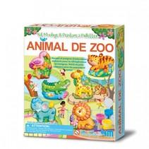 gips gieten en verven: dierentuindieren (Franstalige verpakking)