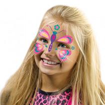 fashion glitter gezichtstattoos vlinder