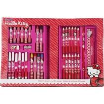 tekenset Hello Kitty 32 x 22 cm 34-delig in koffer