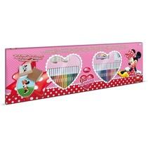 kleurset Minnie Mouse 86-delig roze