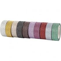 tape glitter multicolor 10 stuks 6 meter