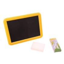 krijtbord White Chalk 18 cm geel