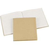 notitieboek 14 x 14 cm bruin/wit