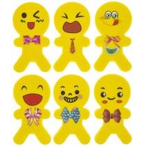 gummen smiley poppetjes geel 5 cm 6 stuks