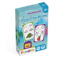 flashcards Leren Tekenen 6 x 9,3 cm karton