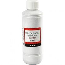 decoupage lijmlak zilver glitter 250 ml