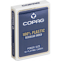 Copag Regular-speelkaarten blauw 55 stuks