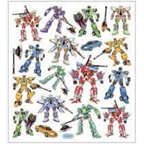 stickervel transformers 16,5 x 15 cm 19 stuks