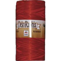 raffia decoratielint rood 200 meter