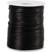 satijnkoord zwart 50 meter