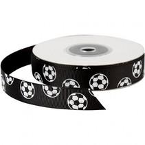 lint 20 m 15 mm zwart met voetballen