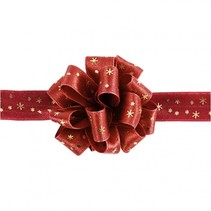 lint 5 m 18 mm rood met gouden sterren