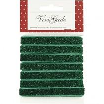 lint 5 m 10 mm groene glitter