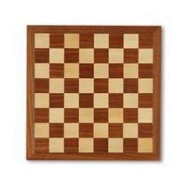 schaakbord met rand 31 x 31 cm hout bruin