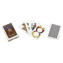 speelkaarten Napoletane 83,5 mm karton bruin 40-delig