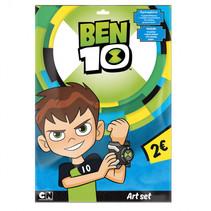 kleurboek Ben 10 papier 25 cm blauw/groen 8-delig