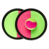 vangspel klittenband roze/groen 20 cm