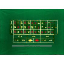 roulettekleed 130 x 90 cm wol groen