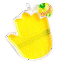set rackets met zuignapbal 19 cm geel 3-delig